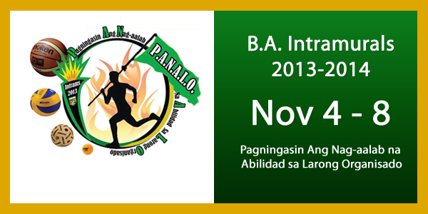 BA Sports Intramurals 2013-2014